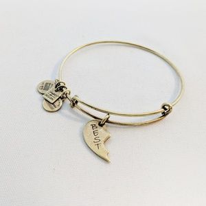 "Alex and Ani Gold ""Best"" Friend Charm Bracelet"